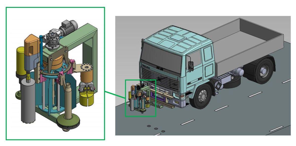 Skanska har låtit utveckla provtagningsutrustning som gör provtagning av asfalt automatiserad och fjärrstyrd.